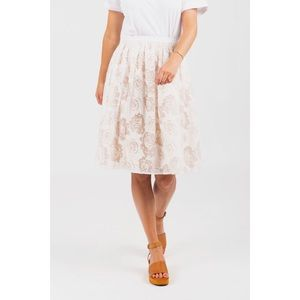 Piper & Scoot NWT Floral Tulle Skirt in Ivory